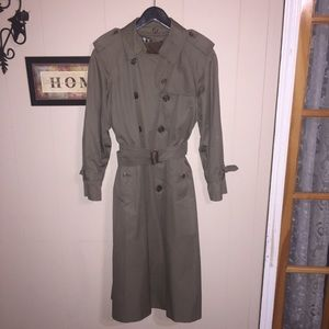 Vintage Burberry trench coat olive green.